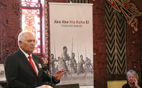 Sir Wira Gardiner, author of the book Ake Ake Kia Kaha E - Forever Brave, about B Company of the 28th Māori Battalion.