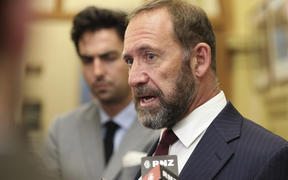 Andrew Little speaks to media at parliament 30 April 2019