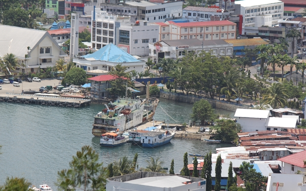 Jayapura harbour, Papua province, Indonesia.