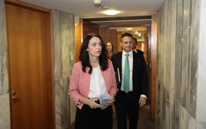Prime Minister Jacinda Ardern and climate change minister James Shaw.