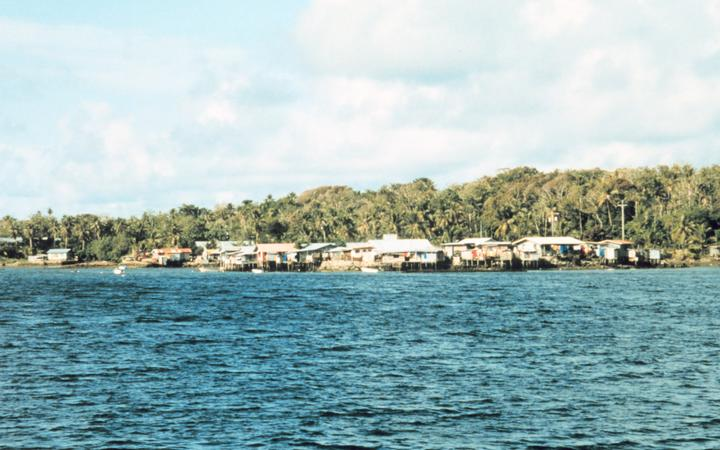 Colonia, the Capital of the state of Yap.