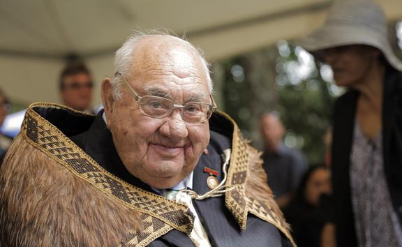 Hekenukumai Busby at his investiture ceremony at Waitangi in February.