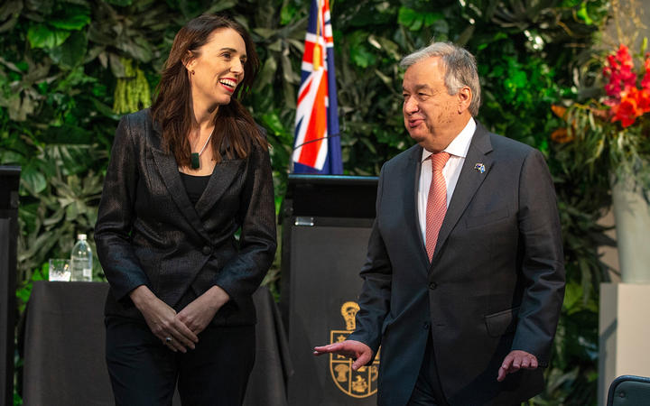 UN leader arrives in New Zealand on climate change trip