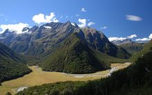 A view from the Routeburn track.