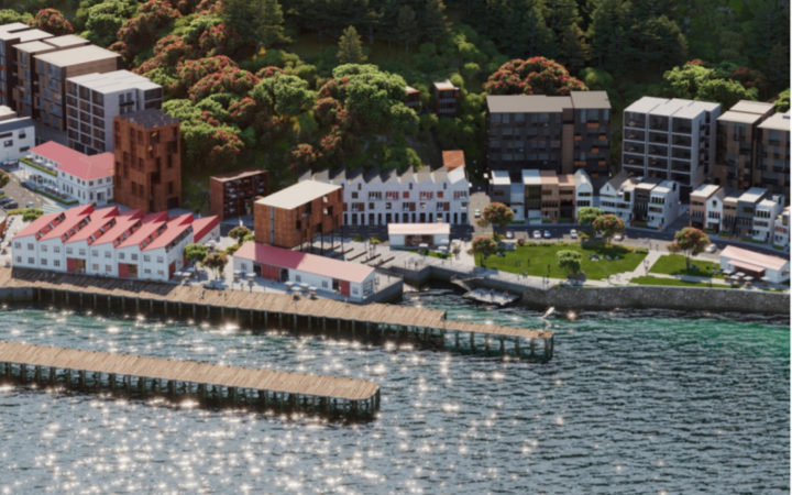 An artist's impression of the Shelly Bay development.
