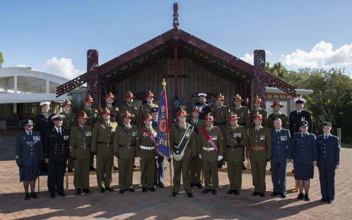 The New Zealand Defence Force contingent attending commemorations for the 75th Anniversary of the Battles of Cassino, in Italy.