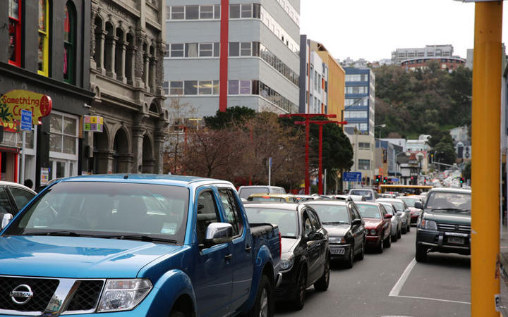 Traffic in Wellington central