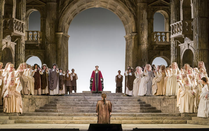A scene from Act II of La Clemenza at The Met
