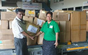 Mohinesh Narayan a Customs Fiji Clearance agent and Millie Lakokinakeba of Empower Development Fiji
