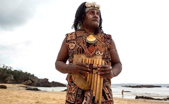 Small Island Big Song member Charles Maimarosia (Solomon Islands)