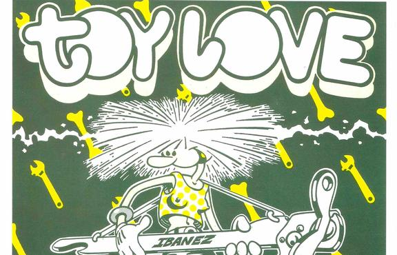 Poster art for Toy Love gig at Auckland's Gluepot