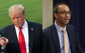 US District Judge Amit Mehta (right) in Washington denied a request by US President Donald Trump to stay his decision pending an appeal.