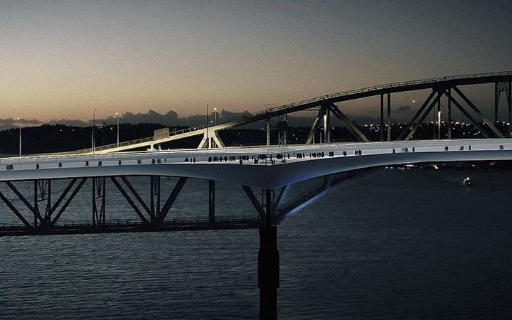 The new design for the Auckland Harbour Bridge shared path