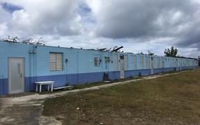 Typhoon damage to William S. Reyes Elementary School in the CNMI.