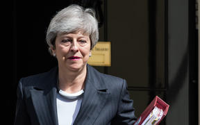 British Prime Minister Theresa May leaves 10 Downing Street on Wednesday.