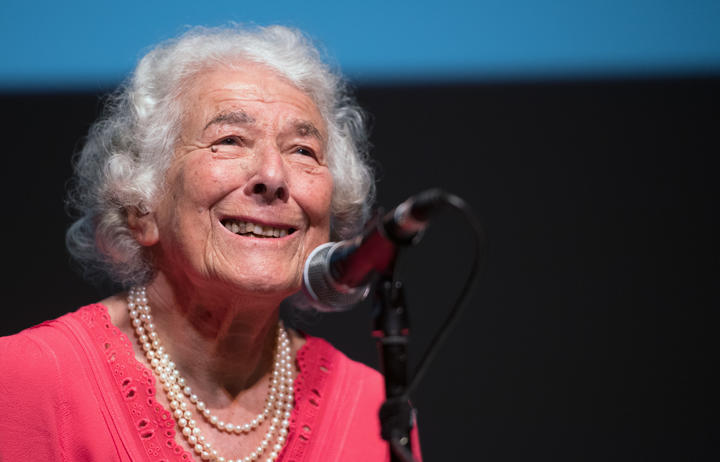Author Judith Kerr presents her book 'Mister Cleghorn's Seal' at the Haus der Berliner Festspiele in Berlin, Germany, 15 September 2016.