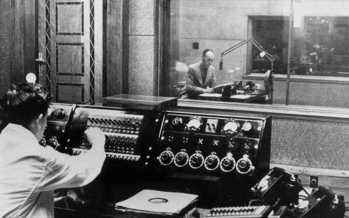 1YA Radio in action in 1946