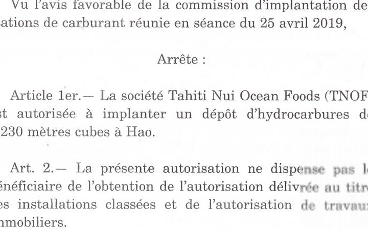 Official Journal of French Polynesia where all government business has to be recorded