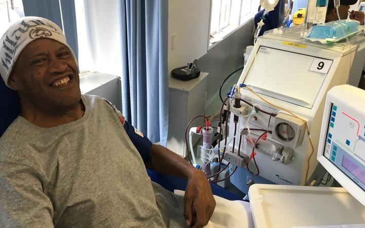 Ben Tawhai has type 2 diabetes. He has dialysis at Middlemore Hospital.