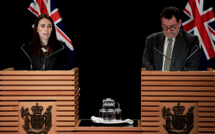 Prime Minister Jacinda Ardern and Finance Minister Grant Robertson speaking to media at Parliament 27 May 2019.
