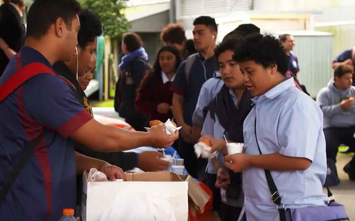 Students at Auckland's Tamaki college.