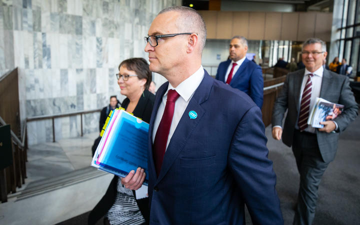 Health Minister David Clark before the Budget lock-up.
