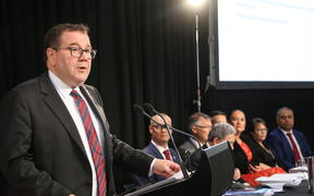 Grant Robertson delivers Budget 2019 in the lockup.