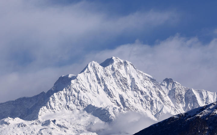 A view of Himalayan range including Trishul, Nanda Devi,Chaukhamba from Chopta Valley during the  Winter Season at Rudrapragya District of Uttarakhand, India.