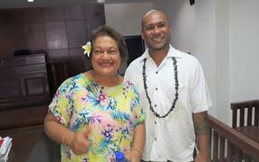 Malele Atofu and lawyer Unasa Iuni Sapolu