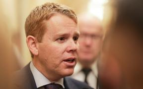 Chris Hipkins at Parliament 21 may 2019