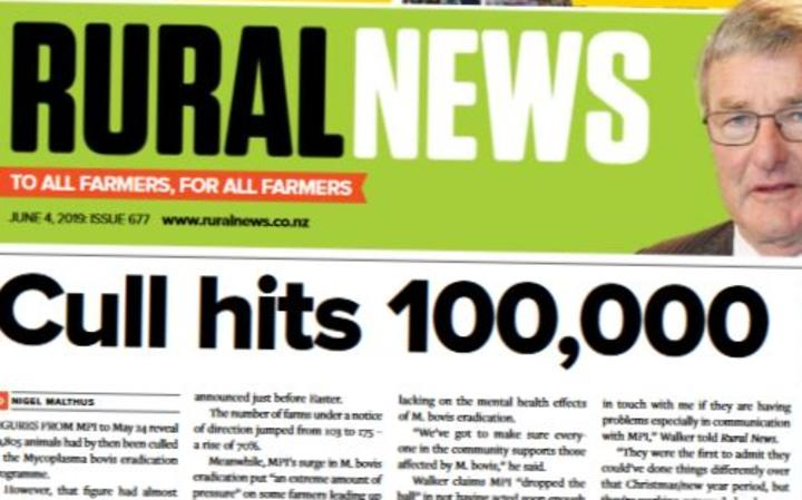 The front page of Rural news this week records a grim milestone in the M Bovis battle.
