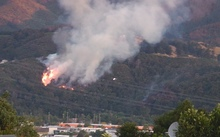 A second scrub fire started in Upper Hutt just as the first one was put out.