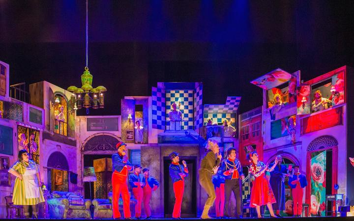 New Zealand Opera's The Barber of Serville set