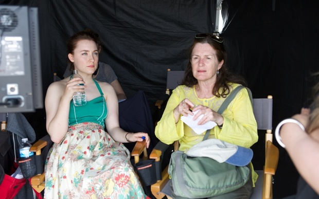 Finola Dwyer, right, with Saoirse Ronan.