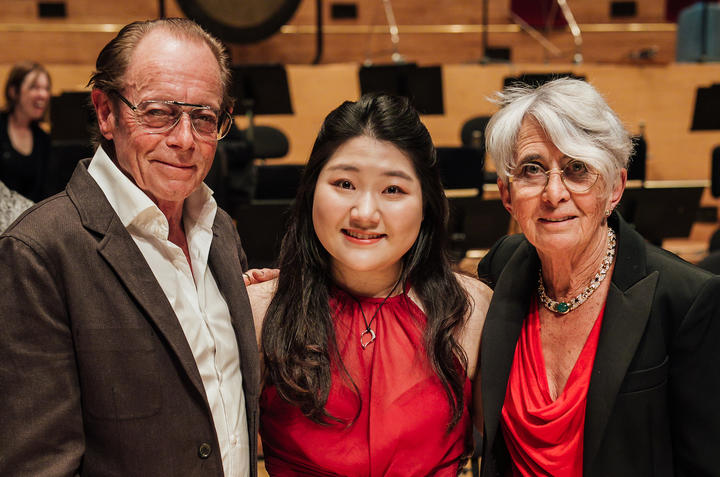 Do Gyung (Anna) Im, Winner of the Michael Hill Competition 2019 with Sir Michael and Christine Lady Hill