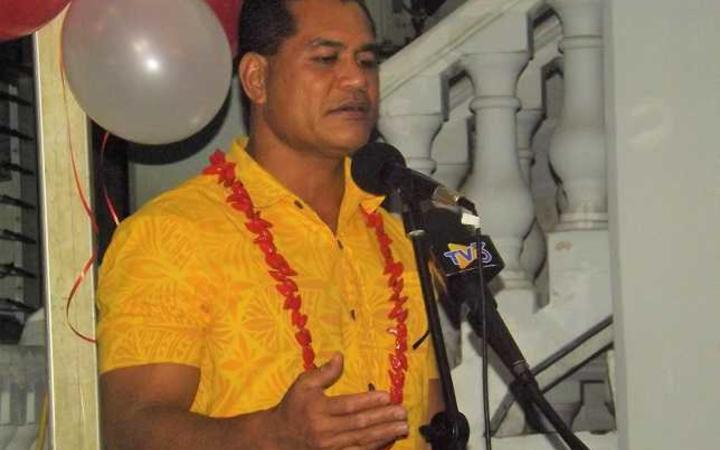Samoa Minister of Communications and Information Technology Afamasaga Rico Tupa'i speaking at the soft launch of radio 2ap new FM statio