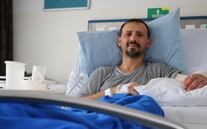 Temel Atacocugu is one of those receiving ongoing treatment after he was shot nine times in the Christchurch mosque attacks earlier this year.