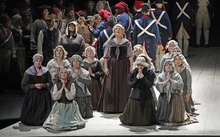 A scene from Act III of Dialogues of the Carmelites at The Met