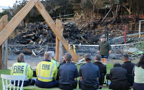 Tapu Te Ranga Marae was badly damaged after a fire broke out overnight on 9 June, 2019.