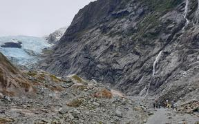 Visitors have mixed feelings about the noise of helicopters at Franz Josef Glacier.