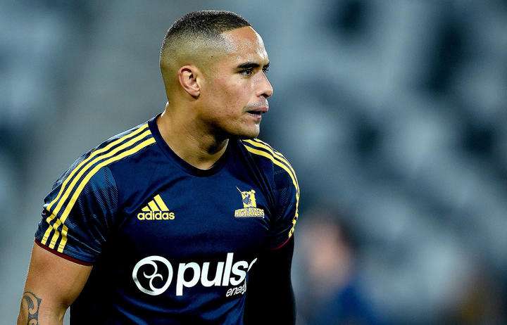 Aaron Smith of the Highlanders looks on prior to a Super Rugby match.