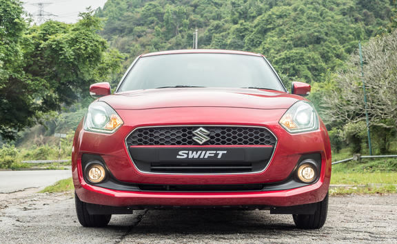Hong Kong, China April 18, 2018 : Suzuki Swift 2018 Test Drive Day April 18 2018 in Hong Kong.