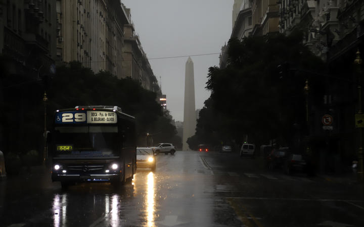 Photo released by Noticias Argentinas showing downtown Buenos Aires on 16 June 2019 during a massive power cut.