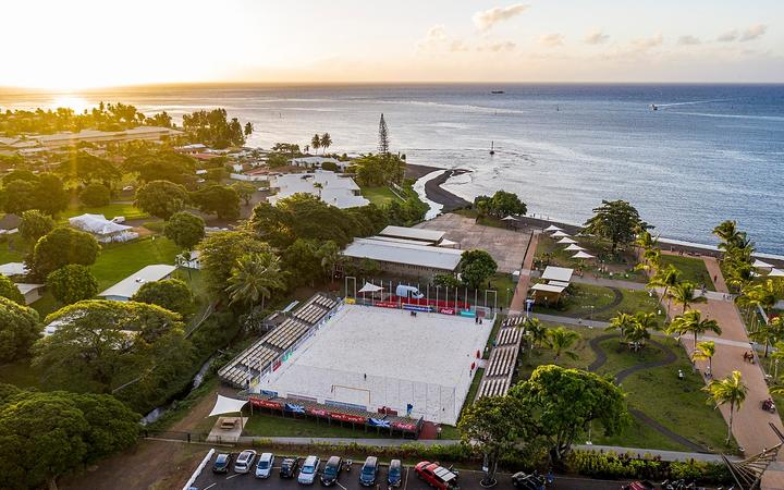 Tahiti's Parc Aorai Tini Hau where all the matches of the OFC Beach Soccer Nations Cup 2019 will play out.