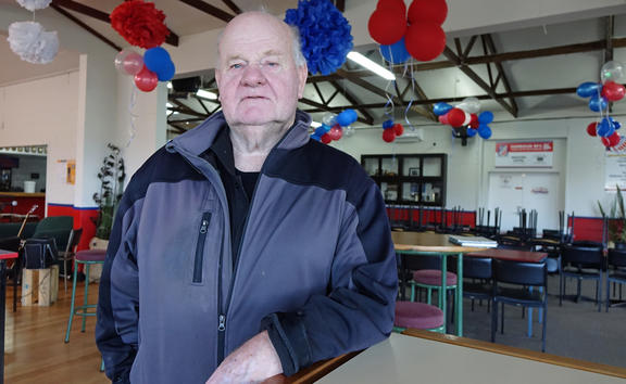 David Dick at Harbour Rugby Club's Port Chalmers clubrooms.
