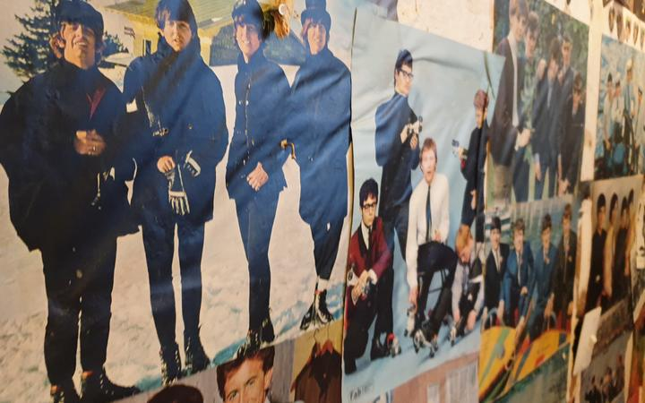Katey Pittwood found posters of the Rolling Stones, Beatles, the Kinks and many more obscure stars of yester-year underneath Gib of the walls in her house.