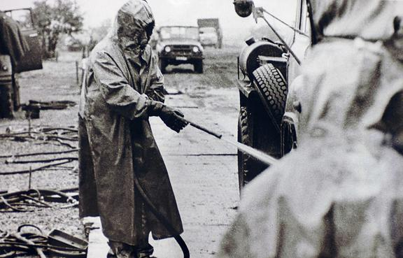Decontamination at Chernobyl