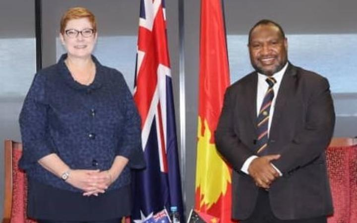 Marise Payne and James Marape.