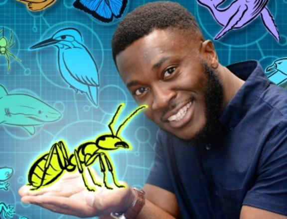 '30 Animals That Made Us Smarter' presenter Patrick Aryee (Supplied)