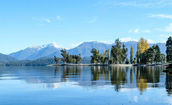 Mt Lyall from Te Anau